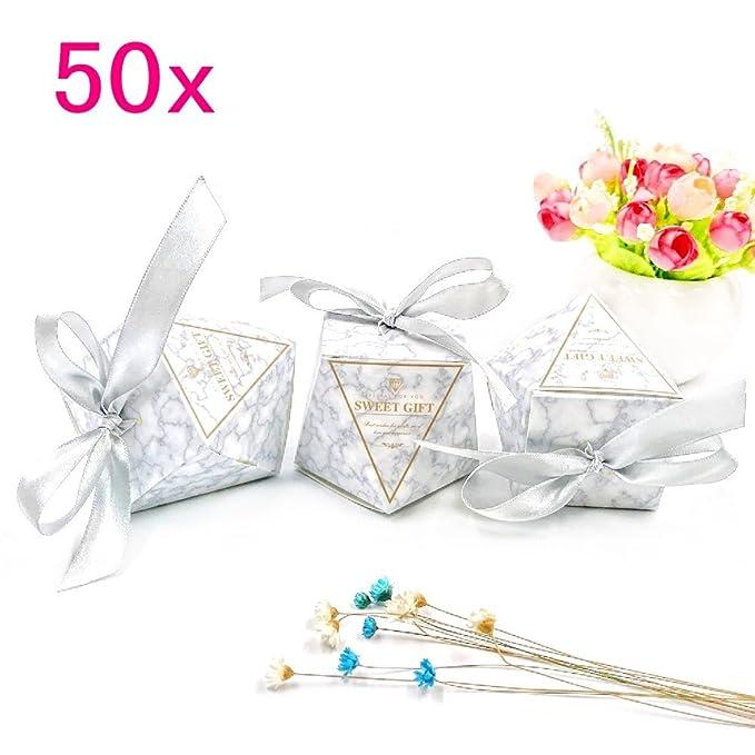 69 opinioni per JZK 50 Forma diamante grigio scatola portaconfetti scatolina portariso