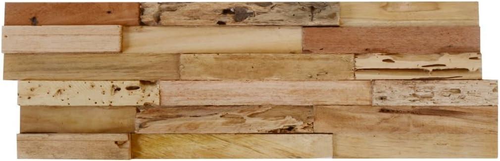 vidaXL 10x Paneles de Revestimiento 3D Teca 1 m/² Dise/ño Mural Decoraci/ón Hogar