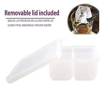 MAIGG Cubito de hielo de silicona cubierta impermeable - Moldes de la Bandeja de Hielo - 100% ...
