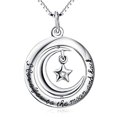 Amazon Com Sterling Silver I Love You To The Moon And Back
