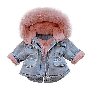 Kids Girls Faux Fur Coat Fleece Jacket Winter Warm Coat