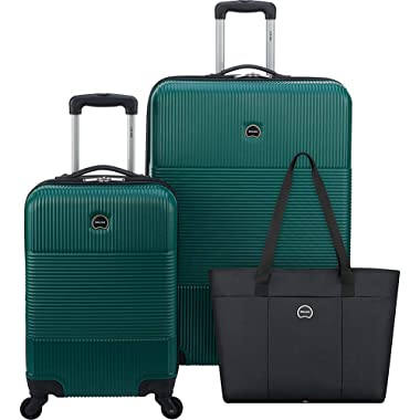 DELSEY Paris 3-Piece Hardside Set (Carry-on, Checked Suitcase and Weekender Bag)