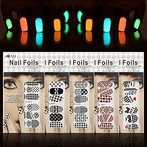Nail Art Set, Tape Line Nail Stickers, Colored Rhinestones Decoration, 45 Sheets Nail Art Stickers, Gradient Nails Sponges for Color Fade Manicure, Dotting Marbleizing Pen for Pedicure by Sinsun (Image #2)