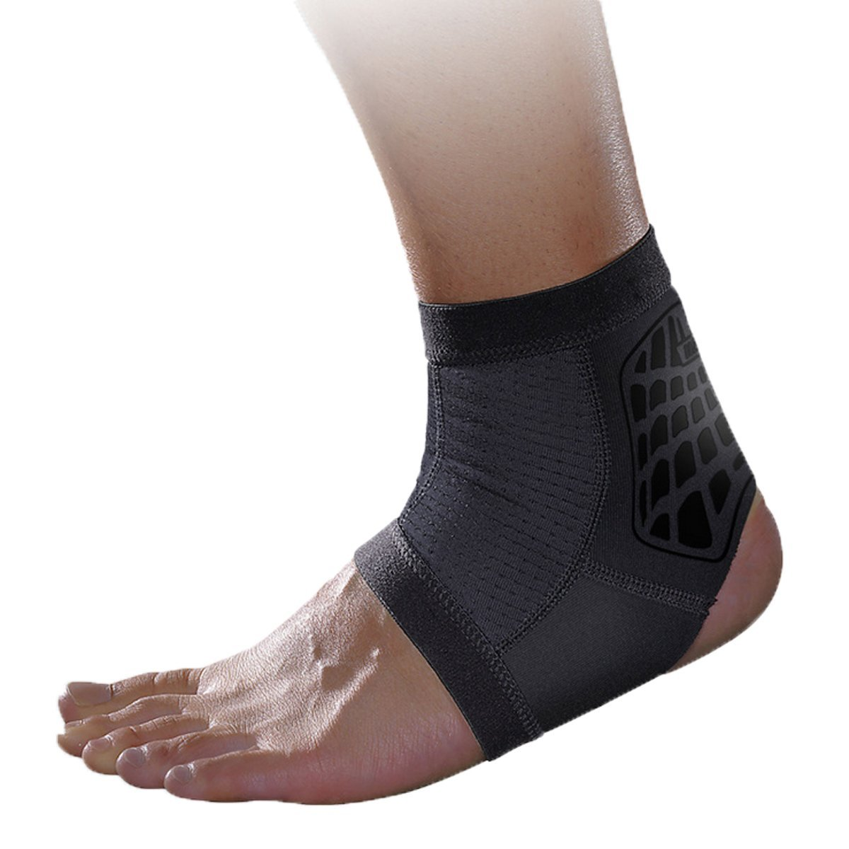 Panegy Compression Ankle Support Sleeve Reduce Muscle Fatigu Soft and Breathable Foot Brace for Running Badminton