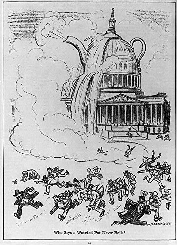 Photo: Who says A watched pot never boils?,1924,Teapot Dome,US Capitol overflowing