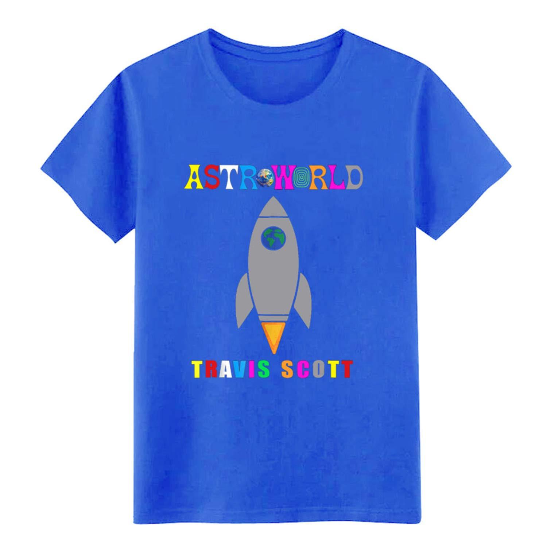 Travis Scott Short Sleeve Pattern Crazy Comical Spring S Royalblue M 8681 Shirts