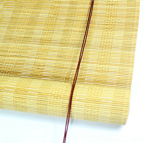 ZEMIN Blinds Shades Bamboo Roller Blind Inside/Outside Install Customizable Office Hotel Cut Off Hand-lifting, 2 Colors, 22 Sizes (Color : #1, Size : 50x120CM) by ZEMIN-zhulian (Image #1)