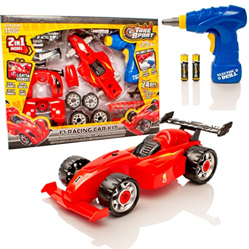 Take Apart® Construction Toy Kit - 2 in 1 F1 Toy Racing Car - Build Your  Own Car Kit - Lights & Sounds