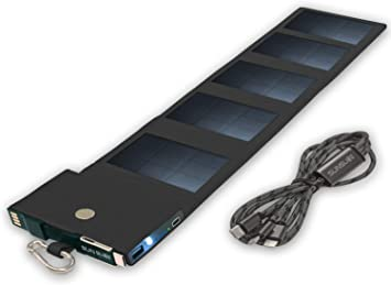 Cargador Solar Movil Equipado con tecnología SunPower, Power Bank Carga rápida, tamaño de Bolsillo, Panel Solar Compatible con iPhone, Samsung, Huawei, Ideal para Caminar, Negro: Amazon.es: Electrónica