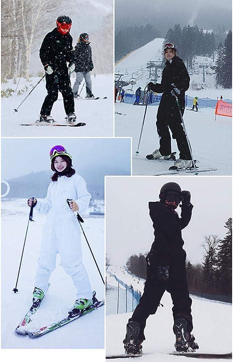 CUTICATE Unisex Skianzug Schneeanzug Wasserdicht Einteiliger Skioverall Schneeoverall f/ür Outdoor Wintersport