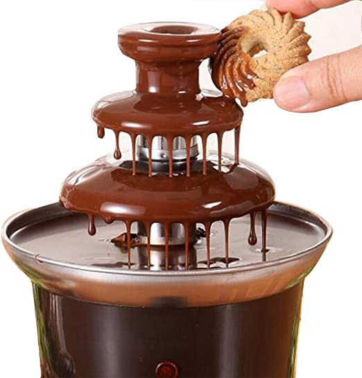 Amazon.com: 220V Chocolate Fountain Machine Fondue Maker Heated 3 ...