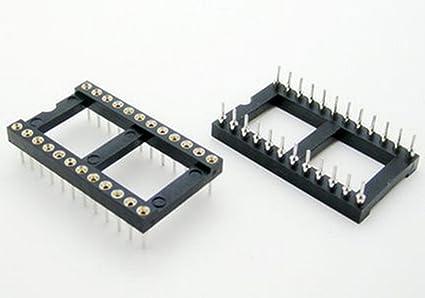 100 PCS DIP-24 24 PIN 24PIN IC Sockets Adaptor Solder Type Wide
