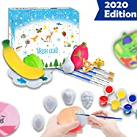 Faeny Fruits & Vegetable Painting Kit for Kids- Arts and Crafts for 4-8 Year Old Girls & Boys, DIY Own Unique Toys, Ideal Gift for Child's Birthday /Christmas/Holiday Pastime (D)
