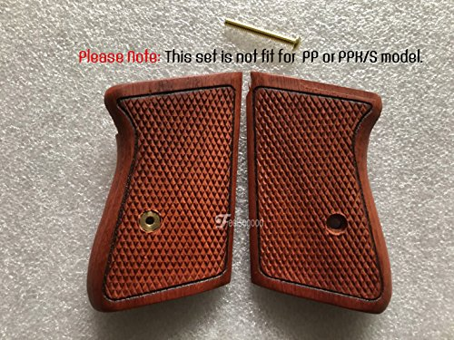 (Feelsogood New!! Grip for Walther PPK 380 ACP Pistol Grip, All Checkered Hardwood, Handmade)