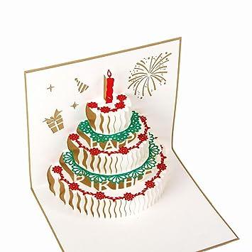Amazon Heartmoon Pop Up Card Happy Birthday Cake Mothers Day