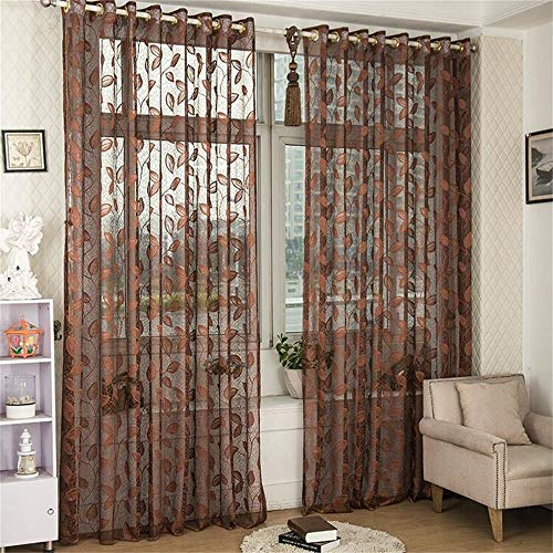Sheer Curtains 95 Inch Length-Back Tab and Rod Pocket Voile Drape Curtains for Living Room 3.3ftx6.6ft
