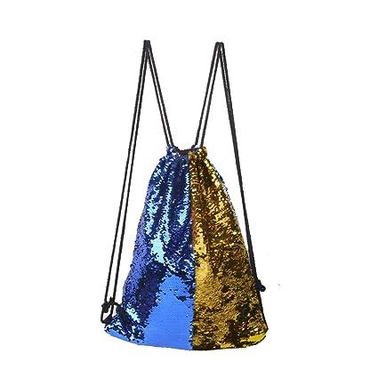 Amazon.com: Mermaid Bolsa de lentejuelas con cordón, mochila ...