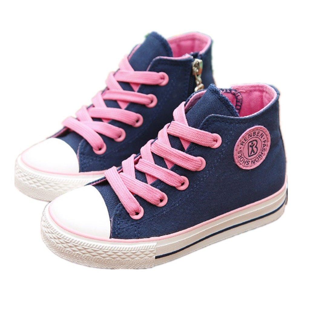 BENHERO High-Top Canvas Sneaker Shoes Trainers (Toddler/Little Kid/Big Kid) (4.5 M US Big Kid, 5158 Navy)
