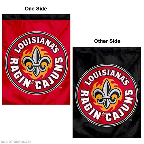 College Flags and Banners Co. University of Louisiana at Lafayette Double Sided House Flag (Lafayette Hanging Outdoor)