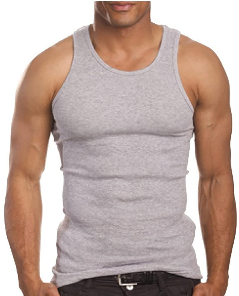 ToBeInStyle Men's A-Shirt Tank Top Muscle Shirt: Amazon.ca ...