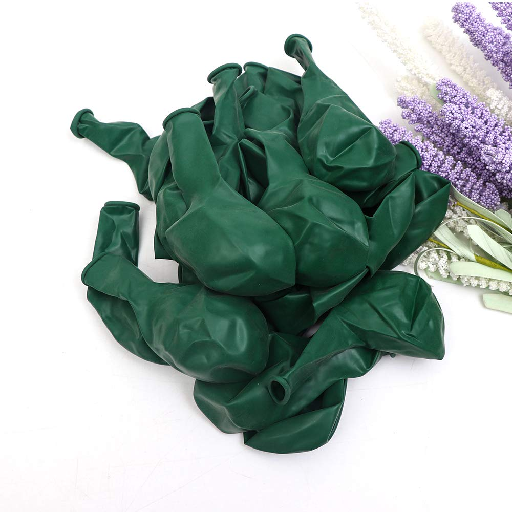 100Pack Green Balloons, 12Inch Green Latex Balloons Premium Helium Quality Dark Green Balloons Light Greeen Balloons for Party Supplies and Decorations(with Green Ribbon) by Y wang (Image #1)