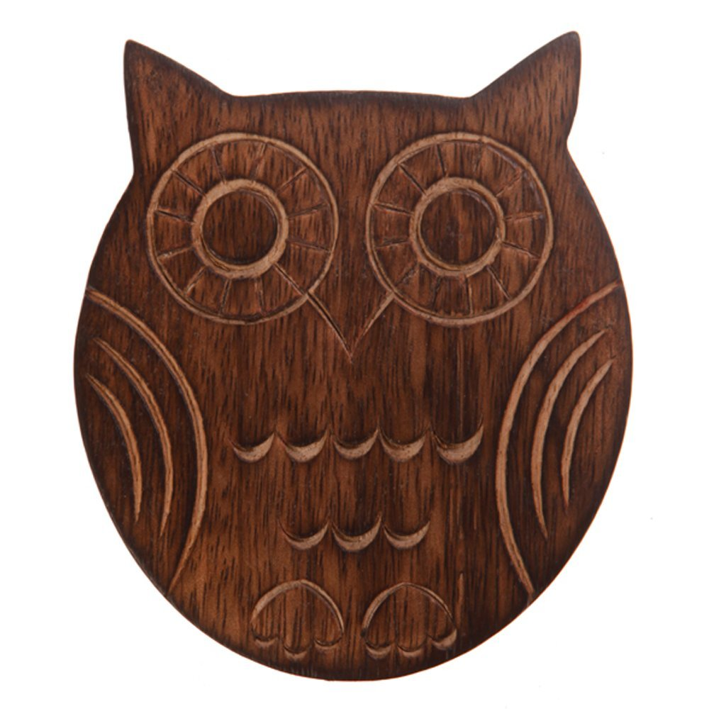 Sass /& Belle Set of Six Wooden Owl Coasters
