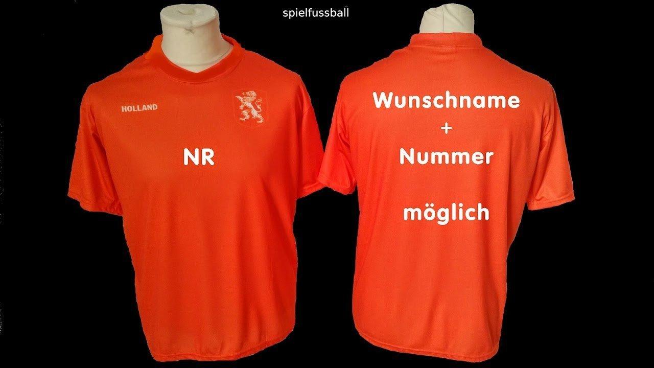 Holland Niederlande Trikot Hose mit Wunschname Nummer Kinder Gr/ö/ßen