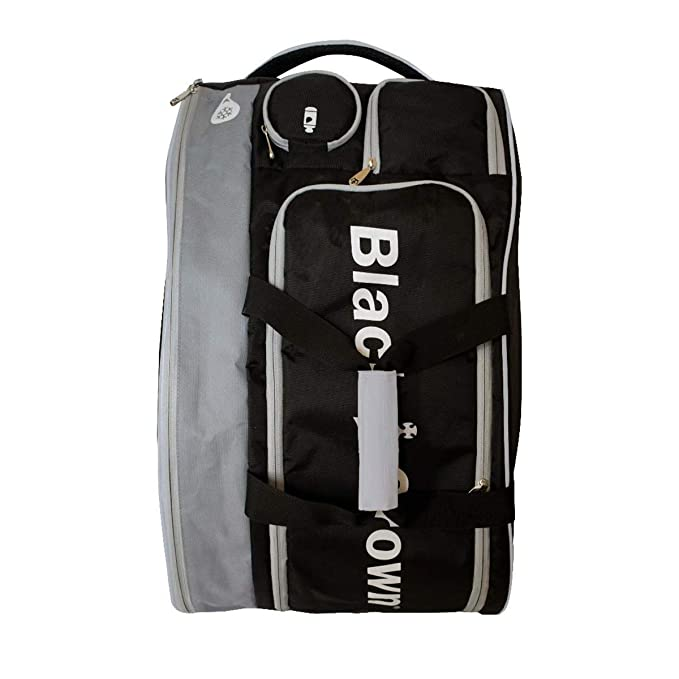Amazon.com : BLACK CROWN Padel Bag - Silver TRON : Sports ...