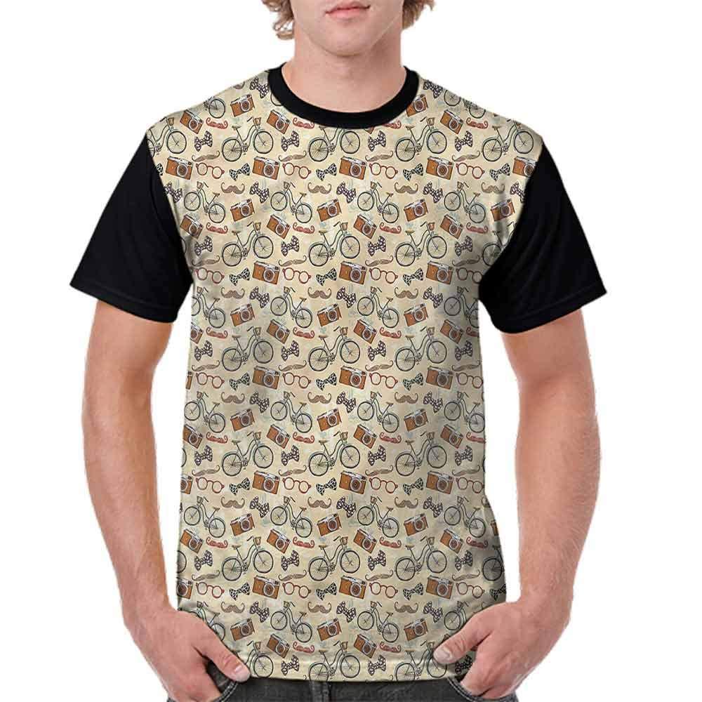 BlountDecor Classic T-Shirt,Hipster Gentleman Theme Fashion Personality Customization
