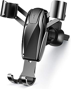 DIVI Soporte Móvil Coche, Soporte Smartphone Coche para Rejillas del Aire de Coche, Universal 360 °