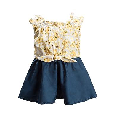 023c9b5b60c9 mubenshang Baby Dresses 12-18 Months Girl Flower Dress Dresses for Kids  Wedding Toddler Guest