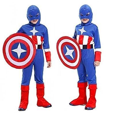 Inception Pro Infinite Talla M - 4 - 6 años - Disfraz - Disfraz - Carnaval - Halloween - Capitán América - Superhéroe - Color Azul - Niño: Juguetes y juegos