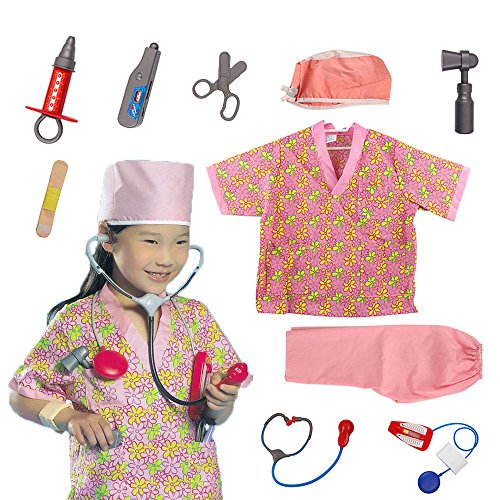 OUBEI Kids Role Play Costume Set Leaning Pretend Halloween Costume 3-7 Years