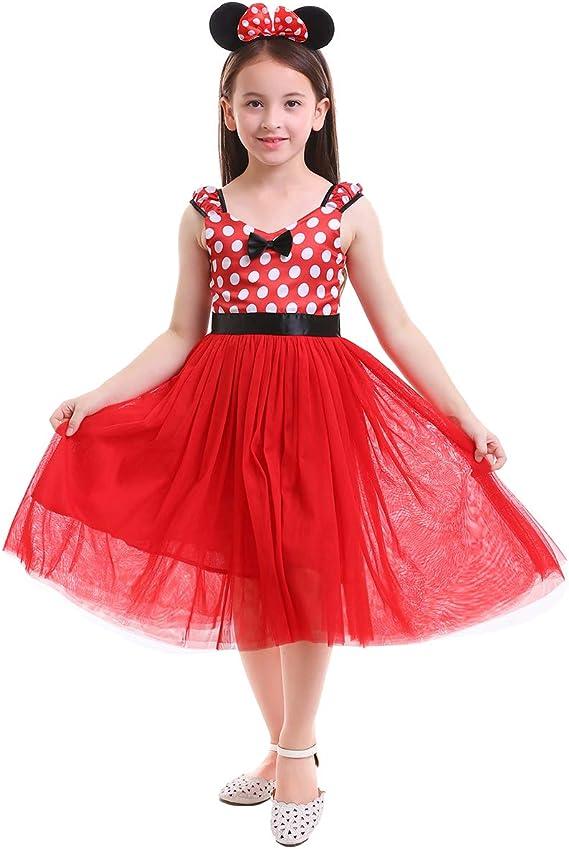 OwlFay Bebé Niña Vestido de Fiesta Princesa Lunares Fantasía Polka ...