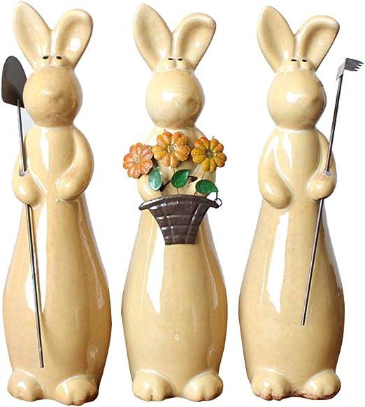 Lapin de pâques en céramique 21 CM