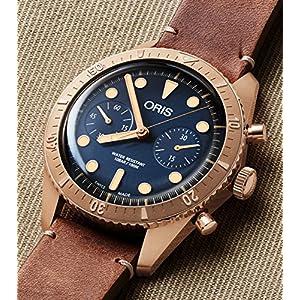 Oris Carl Latón Cronógrafo Edición Limitada Bronce Reloj 01 771 7744 3185-Set LS 2