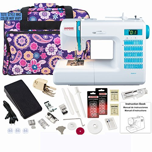 Janome DC2013 Computerized Sewing Machine with Exclusive Bundle by Janome