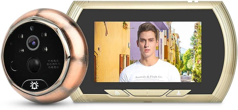 Eboxer Judas Cam/éra 3  /écran LCD Sonnette Vid/éo Visuel Num/érique Cam/éra de Porte 3MP 120 /° Grand Angle Vision Nocturne IR Prise des Photos Syst/ème de S/écurit/é pour Maison Villa H/ôtel etc.