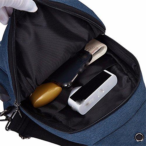 Los Bolso Los De package USB A3 10Cm del Mensajero Al Hombres XXSZKAA 35 Carga De Deportes A2 De Los 18 del del Aire Paquete Pecho Bolso Libre Bolso Paseo Hombro del wPdxX0q