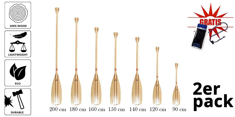 Pagaie en pin Longueur: 90–200cm, 2Stuc–irremplaçable équipement de Yachts, voile bateaux et kanadiern