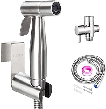 Handheld Bidet Sprayer For Toilet Cloth Diaper Sprayer Portable Pet Shower Toilet Water Sprayer Seat Bidet Attachment Bathroom Stainless Steel Spray For Personal Hygiene