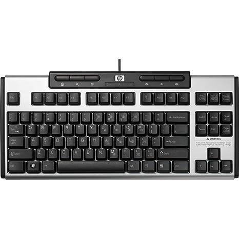 HP AS601AA - Teclado (Negro, Plata, PC/server, Estándar, Derecho