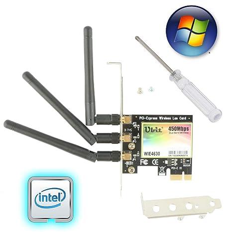 Ubit Tarjeta WiFi Ap 11N 450Mbps Tarjeta de Red, WiFi PCIe ...