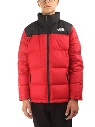 961f9932c9f8 The North Face B Nuptse Down Jkt Tnf Red L (Kids)  Amazon.co.uk  Clothing