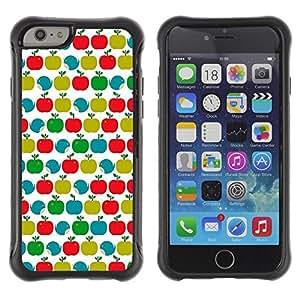Suave TPU GEL Carcasa Funda Silicona Blando Estuche Caso de protección (para) Apple Iphone 6 PLUS 5.5 / CECELL Phone case / / Pattern Teal Green Red White Clean /