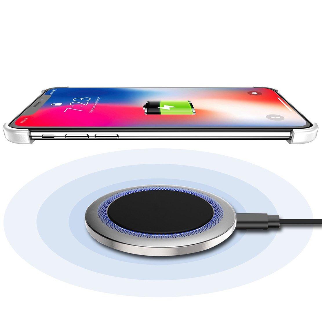 297c1a7ce85 seabaras iPhone X funda Bumper Ultra Thin Apple iPhone en forma de X  Protectores de Funda Bumper funda aluminio marco de metal soporte para  iPhone de carga ...