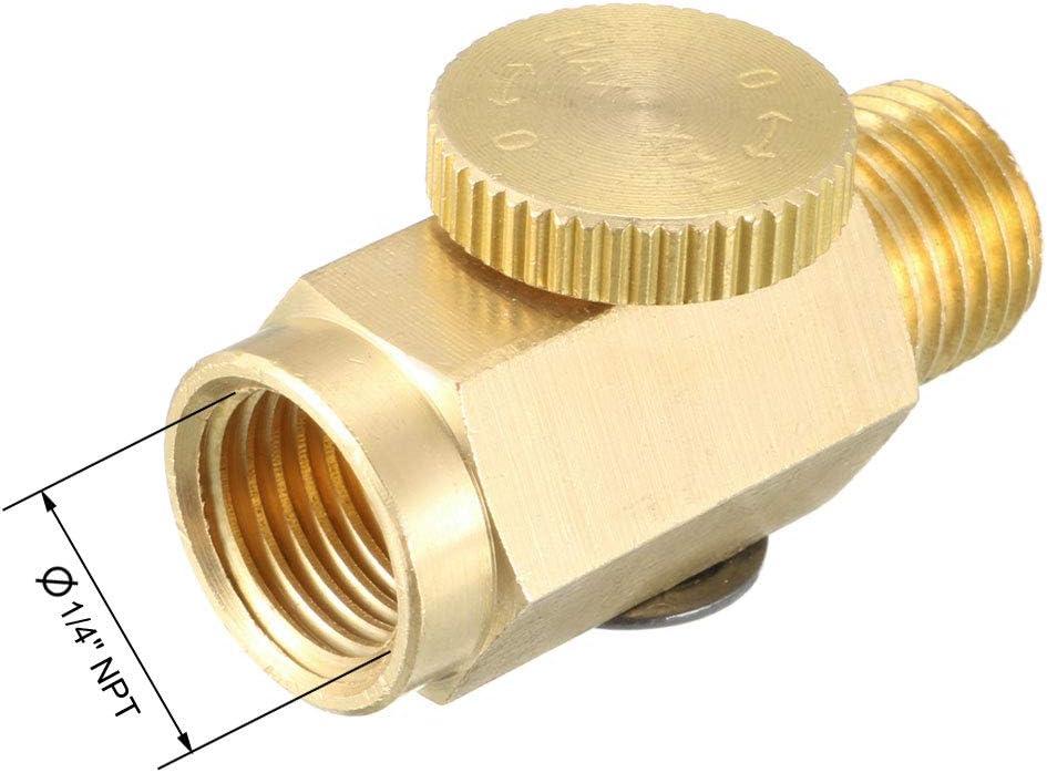 3pcs 1//4 NPT Steel Compressed Air Pressure Valve Inline Regulator Hand Tools