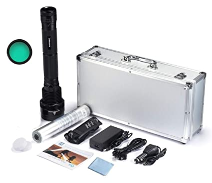 Kit Linterna HID 85w 2000 METROS DISTANCIA - 1 bateria 8700 mAh