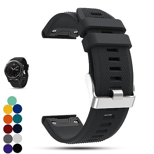 Bracelet de remplacement pour la montre Garmin Fenix 5multisports avec GPS, iFeeker, en silicone souple, installation rapide du bracelet