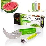 Best Watermelon Slicer & Corer – As Seen On TV – Kitchen Tool For Home Cooks & Professional Chefs –Watermelons, Honeymelon & Cantaloupe Cutter + Extra Bonus Melon Baller!